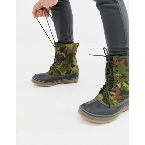 ソレル メンズ ブーツ&レインブーツ シューズ SOREL 1964 premium boots in camo Green