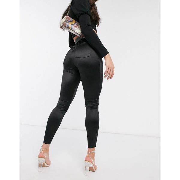 エイソス レディース カジュアルパンツ ボトムス ASOS DESIGN disco skinny pants Black
