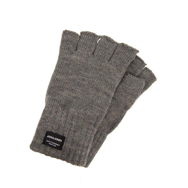 ジャック アンド ジョーンズ メンズ アクセサリー 手袋 希少 grey melange - 全商品無料サイズ交換 FINGERLESS JACHENRY gloves Fingerless GLOVES 年末年始大決算