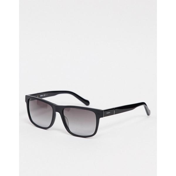 フォッシル レディース アクセサリー 大放出セール サングラス アイウェア Black 全商品無料サイズ交換 square in sunglasses Fossil black SALE