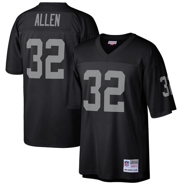 ミッチェル&ネス メンズ シャツ トップス Marcus Allen Las Vegas Raiders Mitchell & Ness Retired Player Legacy Replica Jersey Black