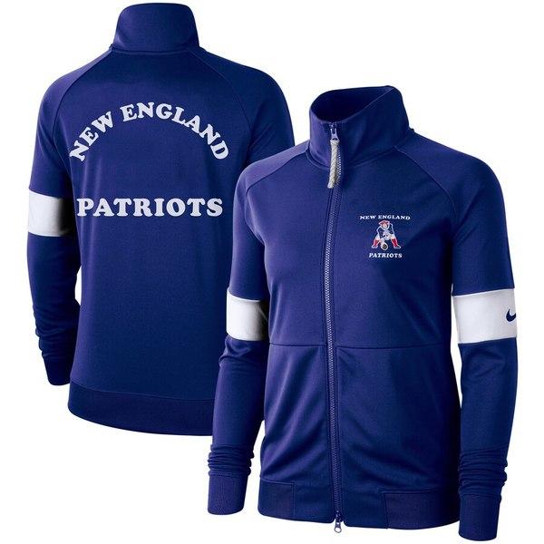 ナイキ レディース ジャケット&ブルゾン アウター New England Patriots Nike Women's Historic Full-Zip Jacket Royal