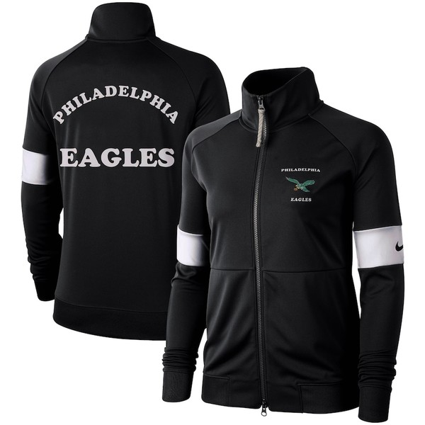 ナイキ レディース ジャケット&ブルゾン アウター Philadelphia Eagles Nike Women's Historic Full-Zip Jacket Black