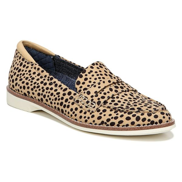 ドクター・ショール レディース サンダル シューズ Dr. Scholl's Cypress Penny Loafer (Women) Tan/ Black Spotted Fabric
