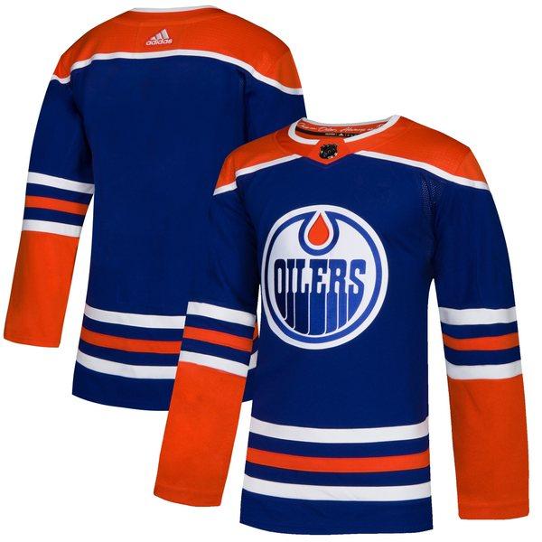アディダス メンズ ユニフォーム トップス Edmonton Oilers adidas Alternate Authentic Jersey Royal