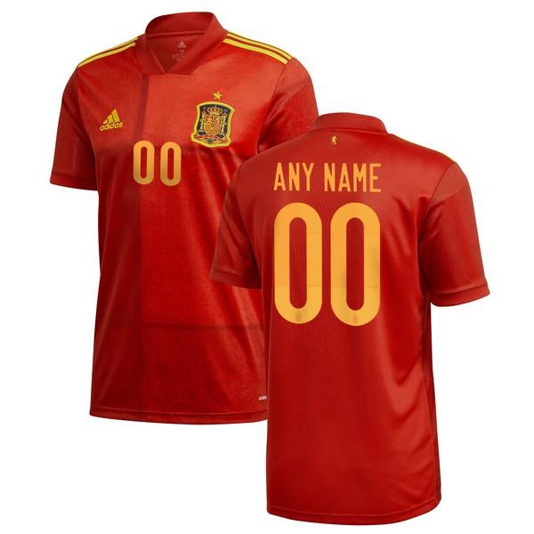アディダス メンズ ユニフォーム トップス Spain National Team adidas 2020 Home Replica Custom Jersey Red