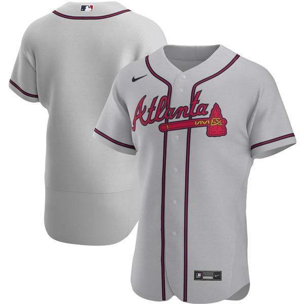 ナイキ メンズ ユニフォーム トップス Atlanta Braves Nike Alternate 2020 Authentic Team Jersey Navy