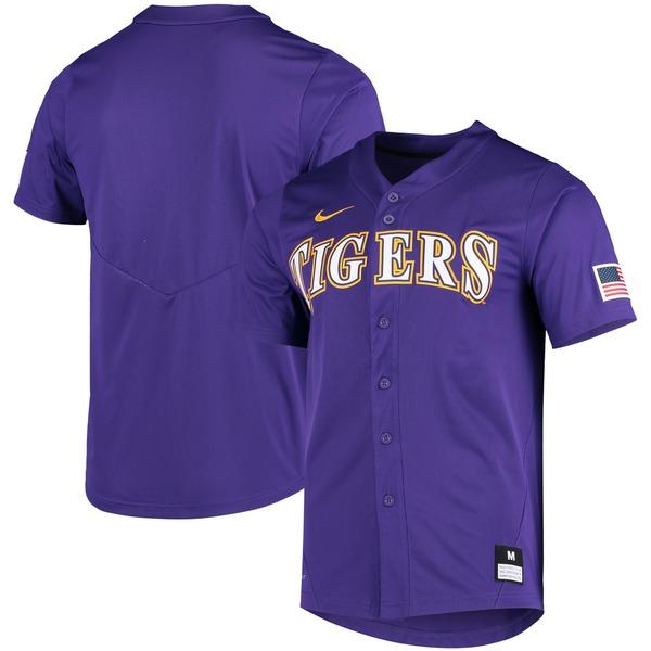 ナイキ メンズ ユニフォーム トップス LSU Tigers Nike Vapor Untouchable Elite Replica FullButton Baseball Jersey Gold