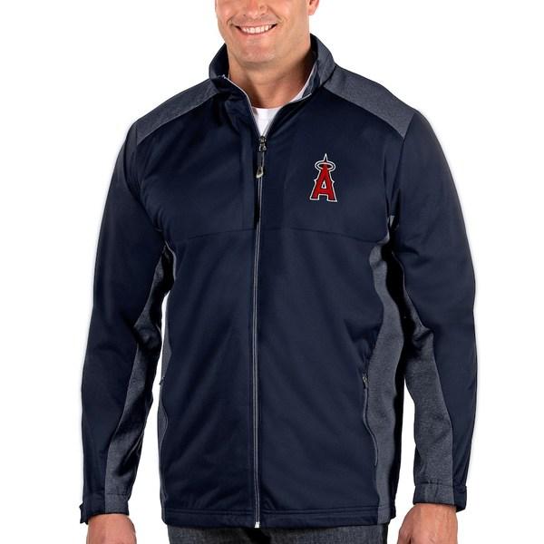 アンティグア メンズ ジャケット&ブルゾン アウター Los Angeles Angels Antigua Revolve Big & Tall Full-Zip Jacket Navy
