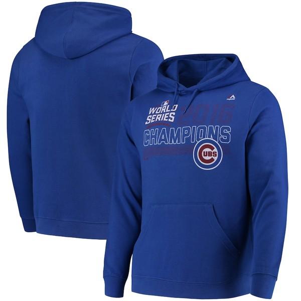 マジェスティック メンズ パーカー・スウェットシャツ アウター Chicago Cubs Majestic Midweight Majestic Fierce Favorite Pullover Hoodie Royal