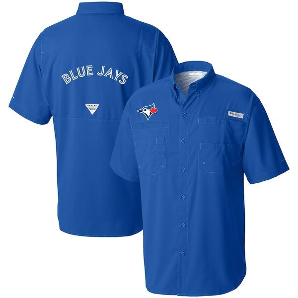 コロンビア メンズ シャツ トップス Toronto Blue Jays Columbia Tamiami Omni-Shade Button-Down Shirt Royal