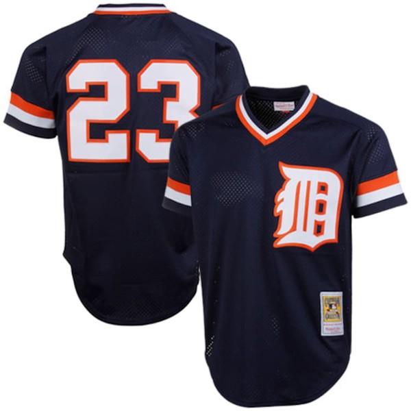 ミッチェル&ネス メンズ シャツ トップス Kirk Gibson Detroit Tigers Mitchell & Ness 1984 Authentic Cooperstown Collection Mesh Batting Practice Jersey Navy