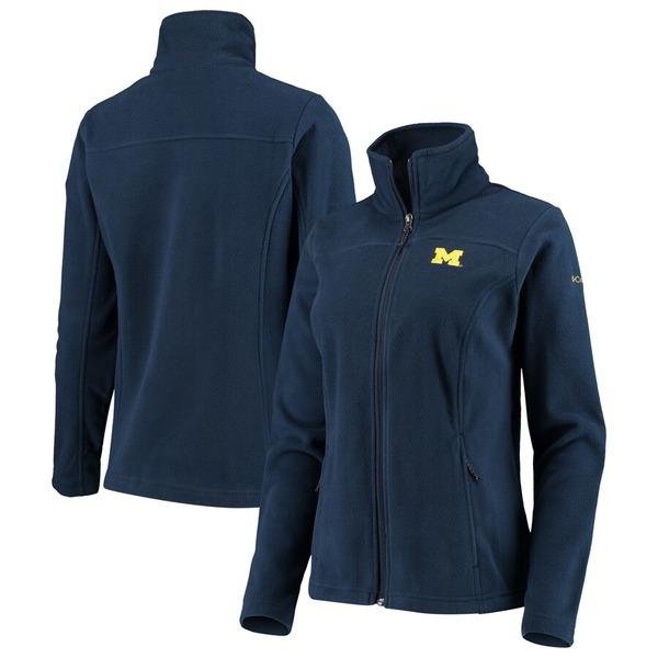 コロンビア レディース ジャケット&ブルゾン アウター Michigan Wolverines Columbia Women's Give & Go II Fleece Full-Zip Jacket Navy