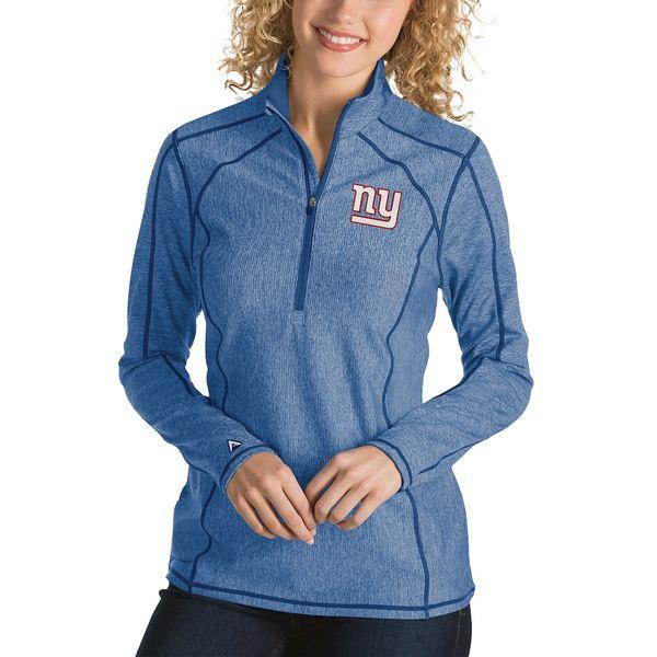 アンティグア レディース ジャケット&ブルゾン アウター New York Giants Antigua Women's Tempo Desert Dry Quarter-Zip Jacket Heather Royal
