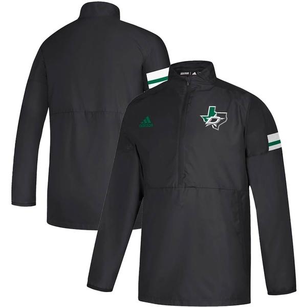 アディダス メンズ ジャケット&ブルゾン アウター Dallas Stars adidas Game Mode Quarter-Zip Pullover Jacket Black