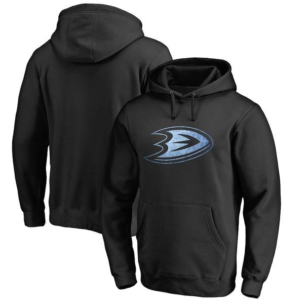 ファナティクス メンズ パーカー・スウェットシャツ アウター Anaheim Ducks Rinkside Pond Hockey Pullover Hoodie Black