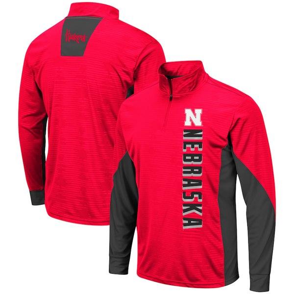 コロシアム メンズ ジャケット&ブルゾン アウター Nebraska Cornhuskers Colosseum Bart Windshirt Quarter-Zip Pullover Jacket Scarlet