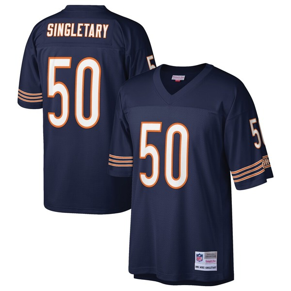 ミッチェル&ネス メンズ シャツ トップス Mike Singletary Chicago Bears Mitchell & Ness Retired Player Legacy Replica Jersey Navy