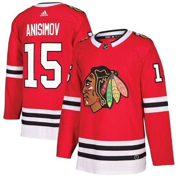 アディダス メンズ シャツ トップス Artem Anisimov Chicago Blackhawks adidas Authentic Player Jersey Red