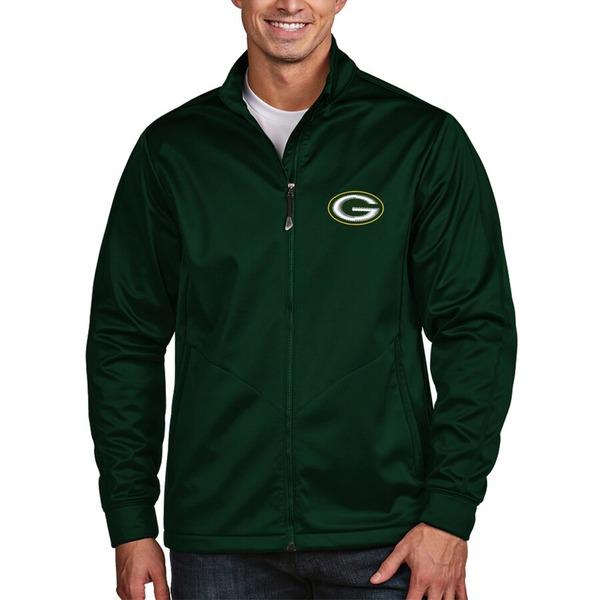 アンティグア メンズ ジャケット&ブルゾン アウター Green Bay Packers Antigua Golf Full-Zip Jacket Green