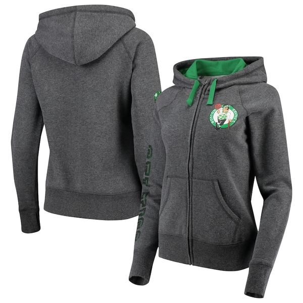 カールバンクス レディース ジャケット&ブルゾン アウター Boston Celtics G-III 4Her by Carl Banks Women's Playoff Suede Fleece Full-Zip Jacket Charcoal/Green