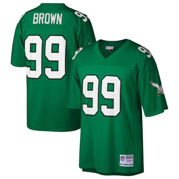 ミッチェル&ネス メンズ シャツ トップス Jerome Brown Philadelphia Eagles Mitchell & Ness Retired Player Legacy Replica Jersey Midnight Green