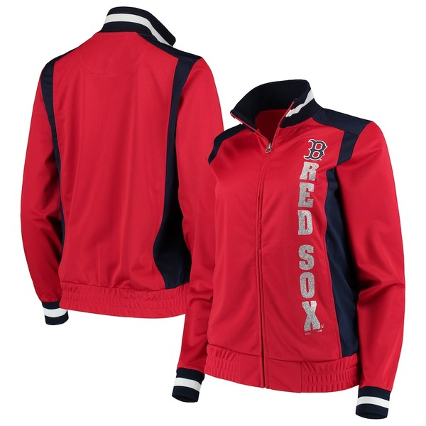 カールバンクス レディース ジャケット&ブルゾン アウター Boston Red Sox G-III 4Her by Carl Banks Women's On Deck Full-Zip Track Jacket Red