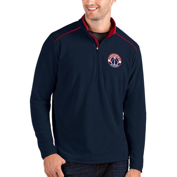 アンティグア メンズ ジャケット&ブルゾン アウター Washington Wizards Antigua Glacier Quarter-Zip Pullover Jacket Navy/Red
