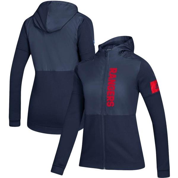 アディダス レディース ジャケット&ブルゾン アウター New York Rangers adidas Women's Game Mode Full-Zip Jacket Navy