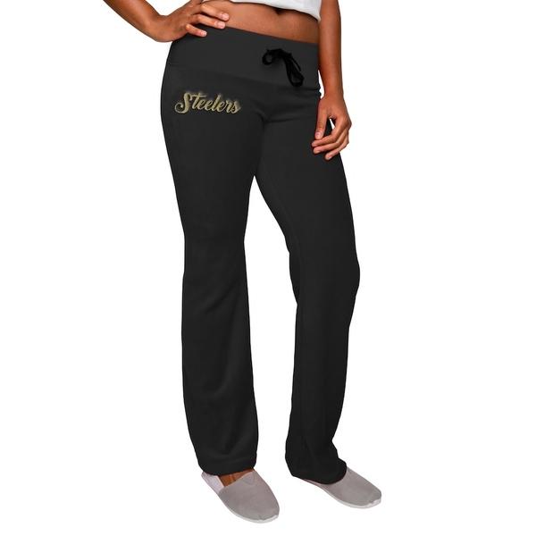 フォコ レディース カジュアルパンツ ボトムス Pittsburgh Steelers Women's Velour Suit Pants Black