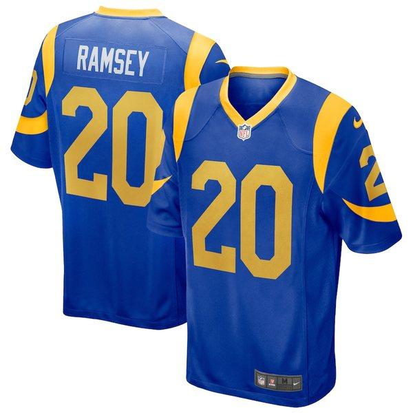ナイキ メンズ シャツ トップス Jalen Ramsey Los Angeles Rams Nike Alternate Game Player Jersey Royal