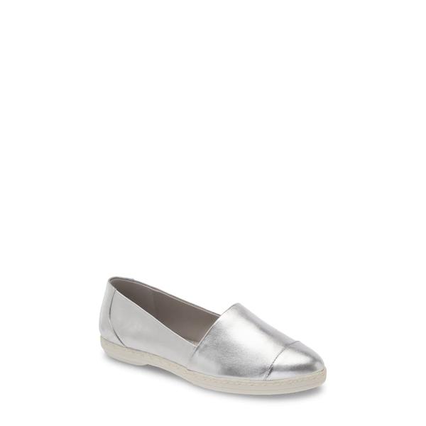 カールラガーフェルド レディース スニーカー シューズ Chespie Cap Toe Slip-On Sneaker Silver Leather