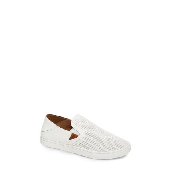 オルカイ レディース スニーカー シューズ 'Pehuea' Slip-On Sneaker Bright White Fabric