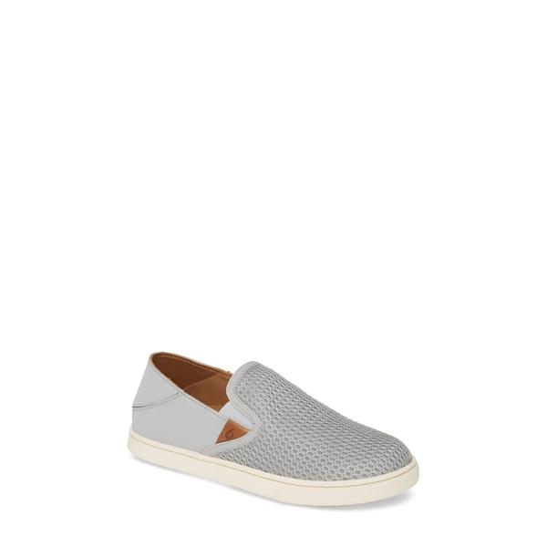 オルカイ レディース スニーカー シューズ 'Pehuea' Slip-On Sneaker Pale Grey/Grey Fabric