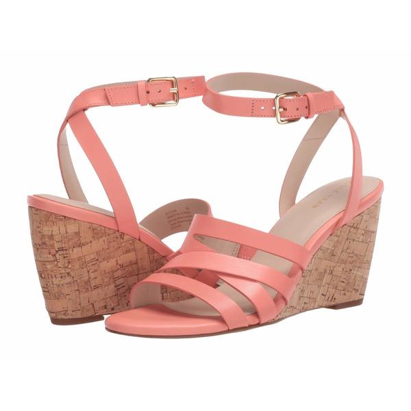コールハーン レディース ヒール シューズ Marietta Wedge Sandal 80mm Burnt Coral Leather