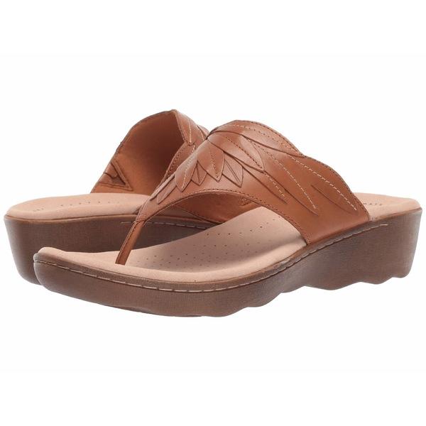 クラークス レディース サンダル シューズ Phebe Pearl Tan Leather