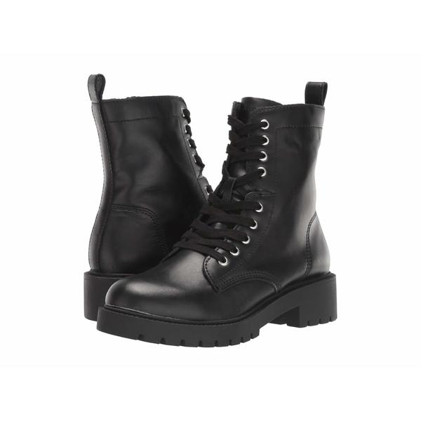 スティーブ マデン レディース ブーツ&レインブーツ シューズ Guided Combat Boot Black Leather