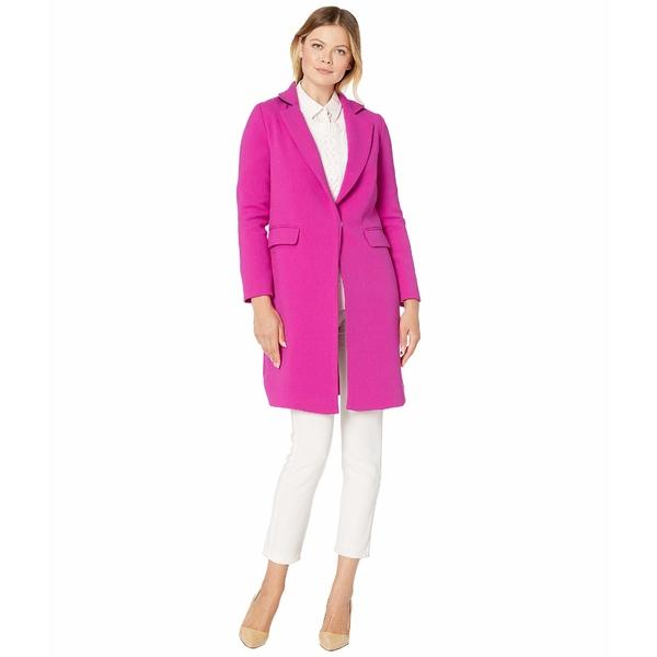 ヴィンスカムート レディース コート アウター Double Weave Topper Coat Pink Shock
