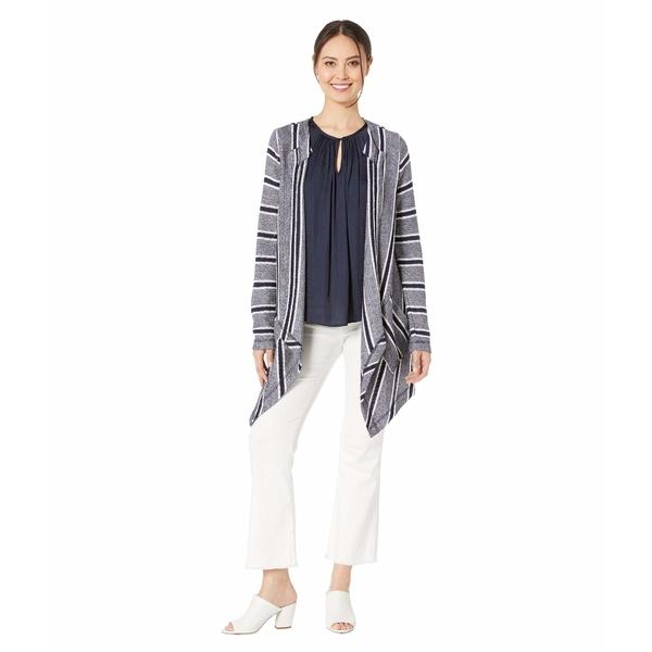 ヴィンスカムート レディース ニット&セーター アウター Long Sleeve Sweater Like Stripe Drapey Cardigan Classic Navy