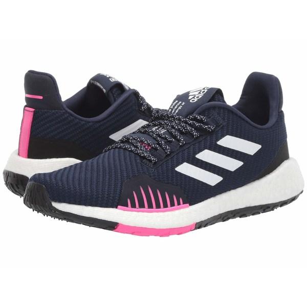 アディダス レディース スニーカー シューズ PulseBOOST HD Winter Collegiate Navy/Footwear White/Shock Pink