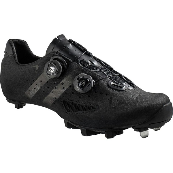 レイク メンズ サイクリング スポーツ MX237 SuperCross Wide Cycling Shoe - Men's Black/Black