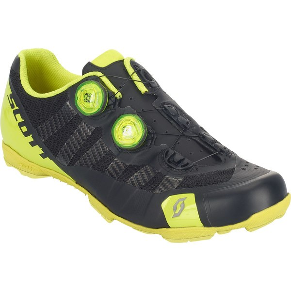 スコット メンズ サイクリング スポーツ RC Ultimate MTB Cycling Shoe - Men's Matte Black/Gloss Neon Yellow