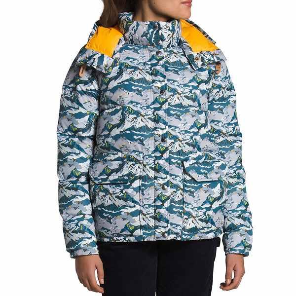 柔らかい ノースフェイス レディース ジャケット&ブルゾン アウター Liberty Sierra Print Hooded Down Puffer Coat Liberty Moon, ハイバラチョウ 6ec686c0
