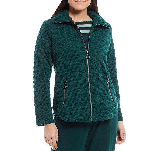 ルビーロード レディース アウター ジャケット ブルゾン Forest 全商品無料サイズ交換 Petite 正規認証品!新規格 Zip Jacket Size Knit Collar Point 超激得SALE Quilted