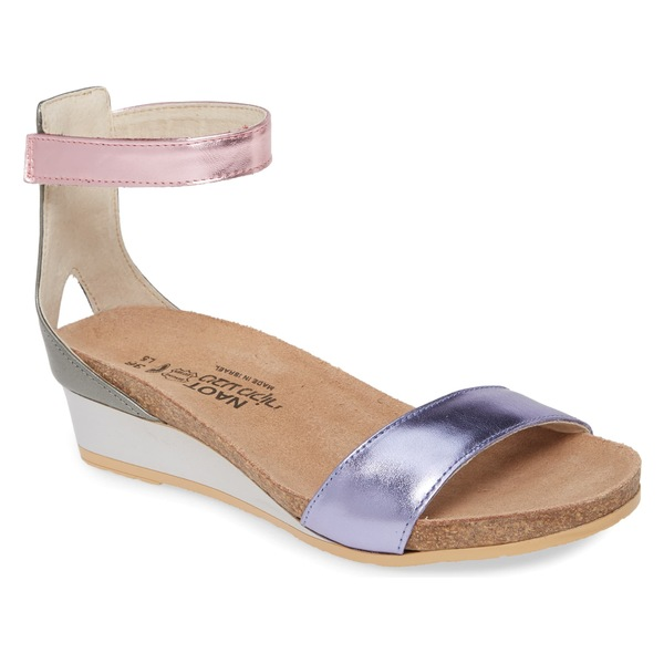 ナオト レディース サンダル シューズ Naot 'Pixie' Sandal (Women) Purple/ Pink Mirror Leather