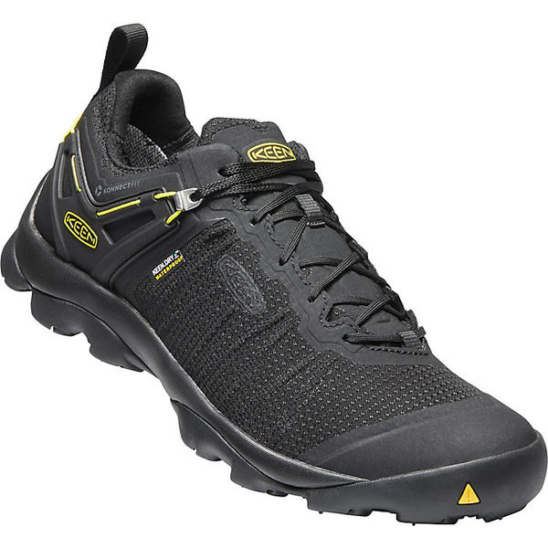 キーン メンズ ハイキング スポーツ Keen Men's Venture Waterproof Shoe Black / Vibrant Yellow