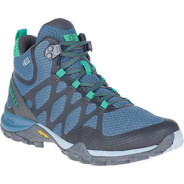 メレル レディース ハイキング スポーツ Merrell Women's Siren 3 Mid Waterproof Shoe Bluestone