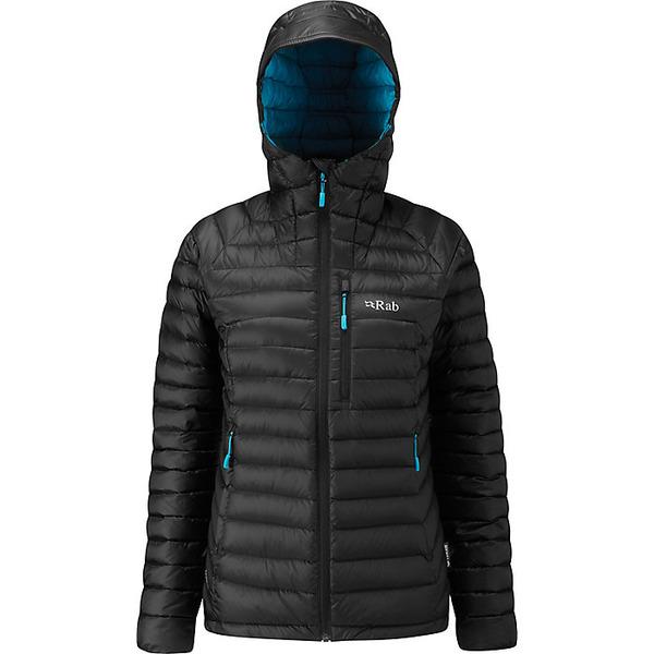 ラブ レディース ジャケット&ブルゾン アウター Rab Women's Microlight Alpine XLong Jacket Black / Seaglass