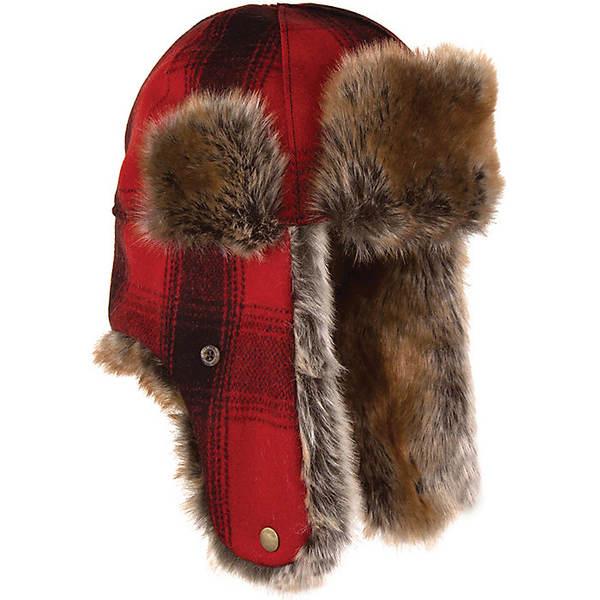 ストーミー クローマー メンズ 帽子 アクセサリー Stormy Kromer The Northwoods Trapper Hat Red/Black Plaid