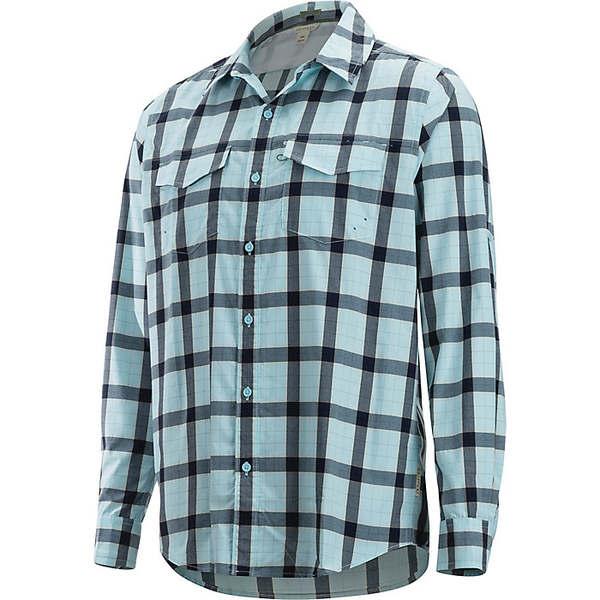 エクスオフィシオ メンズ ハイキング スポーツ ExOfficio Men's Estacado LS Shirt Air Blue